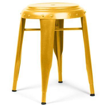 vtwonen krukje metaal kruk geel