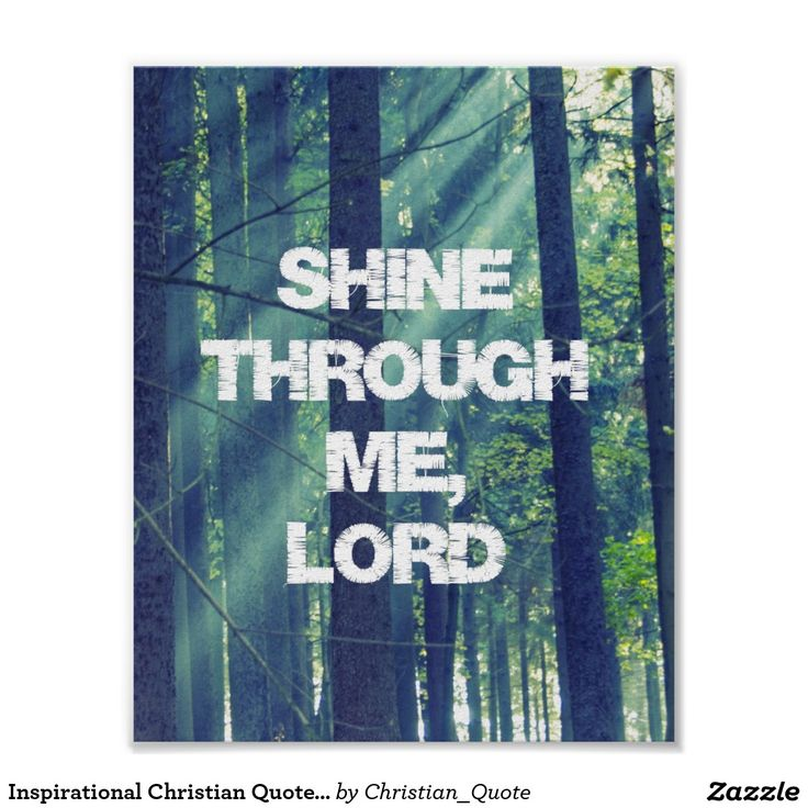 Inspirational Christian Quote Prayer Affirmation Poster