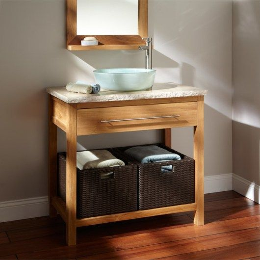 contemporary teak bathroom vanities and sink consoles Teak Furniture Bathroom: Original Solutions For Your Home