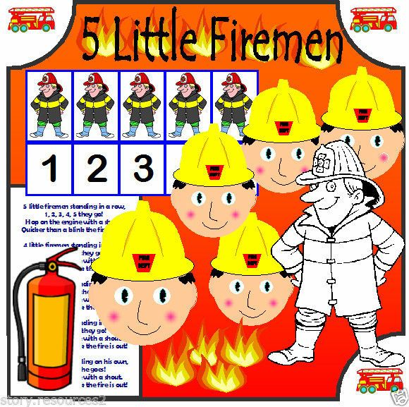 FIREMAN NUMBER RHYME PEOPLE WHO HELP US EYFS SEN CHILDMINDER TEACHING RESOURCES