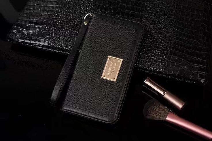 マイケルコース配色iPhone8/7s/6plusケース手帳型ストラップ付きアイフォン7/6sカード収納携帯カバーシンプル財布