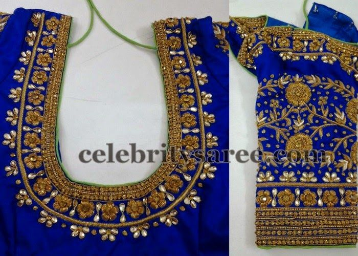 blue-thread-work-elbow-length-blouse.jpg (700×500)