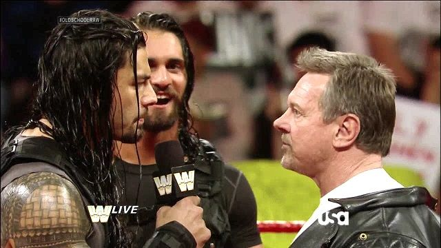 Roman Regins and the late great Roddy Piper (Monday Night Raw Old School, January/6th/2014)