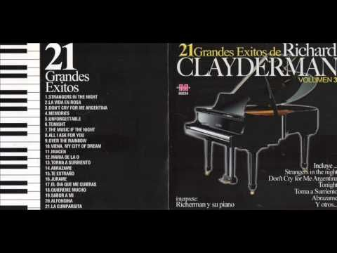 RICHARD CLAYDERMAN 21 GRANDES EXITOS CD ENTERO - YouTube