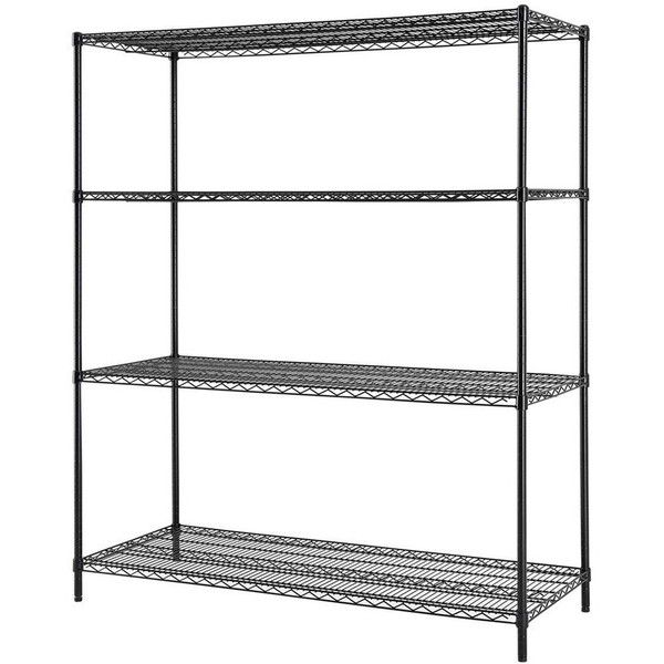 Excel 72-in H x 60-in W x 24-in D Steel Freestanding Shelving Unit (380 ILS) ❤ liked on Polyvore featuring home, furniture, storage & shelves, bookcases, steel bookcase, steel shelving systems, steel shelf unit, freestanding shelving unit and steel freestanding shelving unit