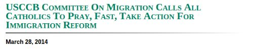 USCCB Committee On Migration Calls All Catholics To Pray, Fast, Take Action For Immigration Reform