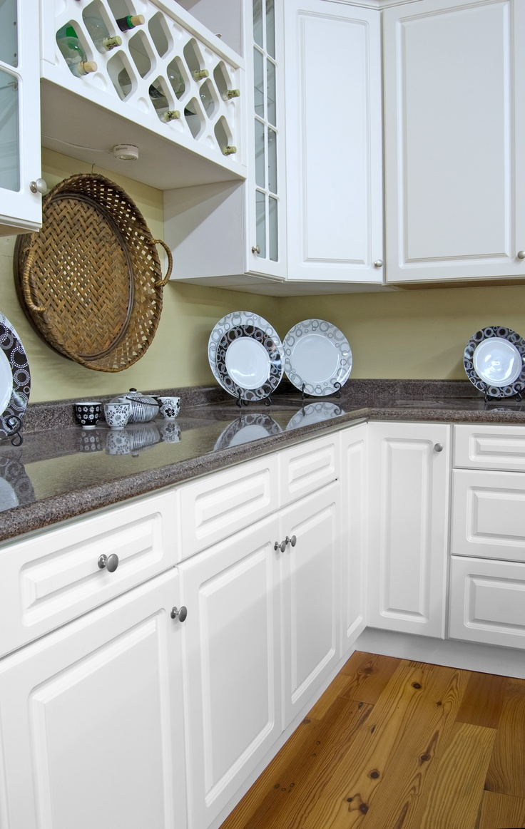 SkiBrite White cabinets with Laminate counter tops  Work