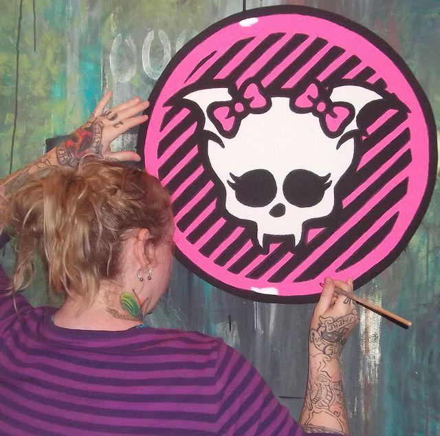 Diy Monster High Room Decor | Monster High Doll Wallpaper Art Sricker Mural  Handmade Room Wall
