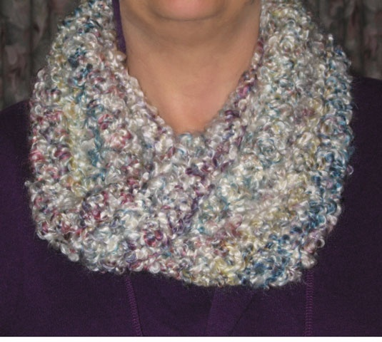 ... Scarf - double crochet all the way #6 Lionbrand Homespun Thick & Quick