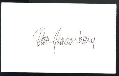 "Dan Quisenberry Royals Signature 3x5 Index Card JSA SOA . $30.00. Kansas City Royals, PitcherDan Quisenberry,Hand Signed 3x5"" Index CardGREAT AUTHENTIC BASEBALL COLLECTIBLE!! .AUTOGRAPH AUTHENTICATED BY JAMES SPENCE AUTHENTICATIONS WITH A JSA AUTHENTICATION STICKER ON ITEM .ITEM PICTURED IS ACTUAL ITEM BUYER WILL RECEIVE. ITEM IS SOLD AS IS, NO REFUNDS AND NO EXCHANGES."