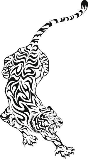 Tribal Animal Tattoos- Tiger