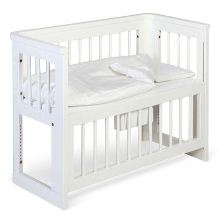 Troll Spjälsäng Sun Bedside Crib Vit