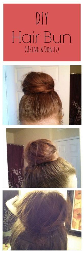 DIY Hair Bun Using a Donut #beauty