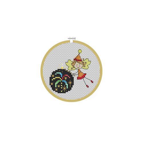 November Fairy Cross Stitch Pattern
