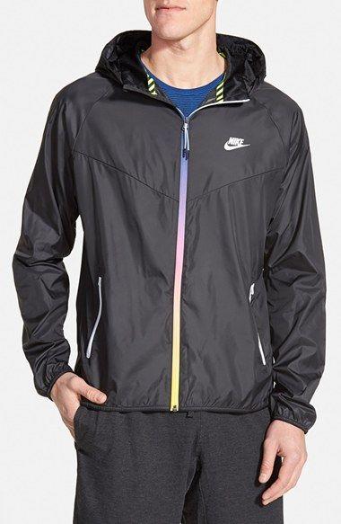 Men's Nike 'Windrunner' Hooded Jacket, Size Large - Black