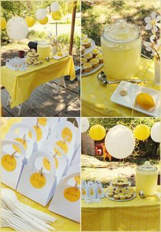 Yellow Summer Party or Bumble Bee Party - Find more Summer Birthday Party Ideas at http://www.birthdayinabox.com/party-ideas/guides.asp?bgs=3