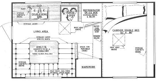 17 best truck campers images on pinterest caravan for Cabover house plans