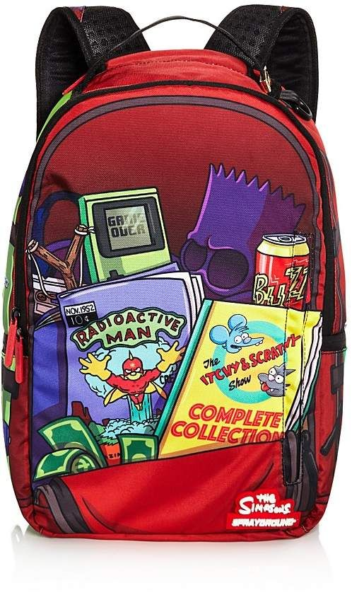 836aaaa28394de Sprayground Bart Simpson Backpack - 100 Exclusive #main#compartment#panels