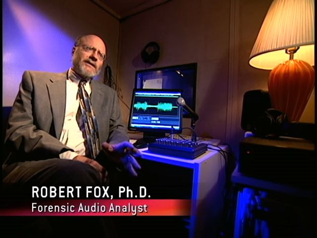 Robert Fox, Ph.D., forensic audio analyst | Forensic Files: Chief Suspect (TV episode 2006) | Tags: #screencaps, forensic science, forensic evidence