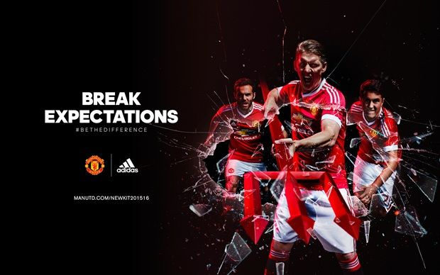 Built to break expectations. The 2015/16 Manchester United home jersey. ‪#‎BeTheDifference‬
