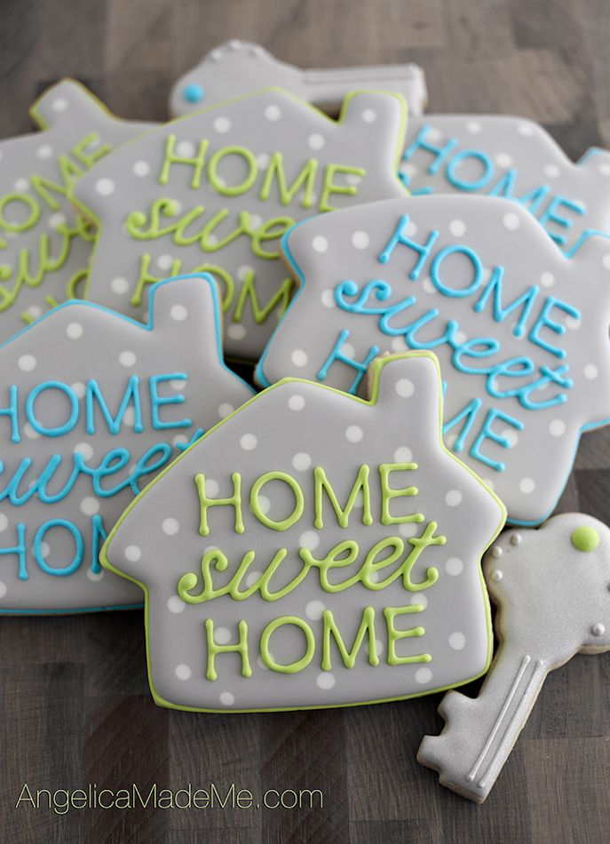 home sweet home cute little house cookies a great fun