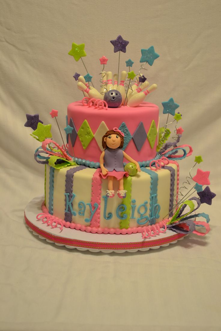 bowling cakes for girls | Bowling Birthday Party Cake — Children's Birthday Cakes