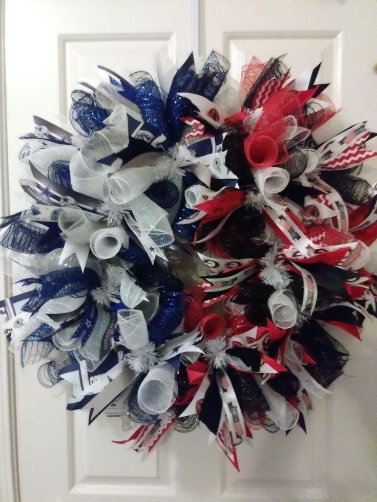 Dallas cowboys and Georgia Bulldogs deco mesh wreath