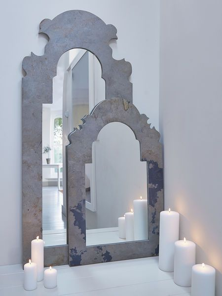Arched Mirrors - make this out of wood and gold leaf?