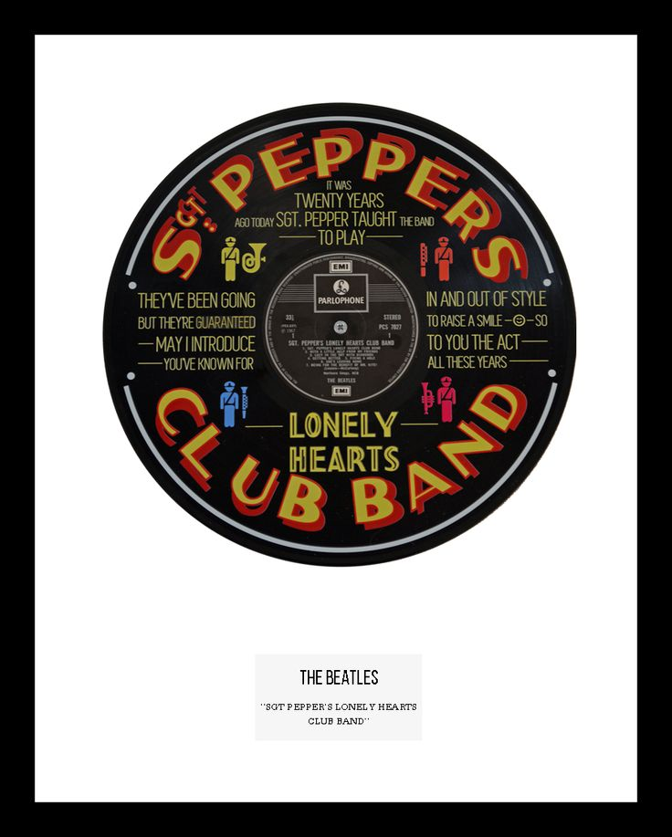 """<span id=""""fbPhotoSnowliftCaption"""" class=""""fbPhotosPhotoCaption"""" tabindex=""""0"""" data-ft=""""{""""tn"""":""""K""""}""""><span class=""""hasCaption"""">This is our single mount version of the Beatles hit """"Sgt Peppers lonely hearts club band"""". On an original Parlophone 12"""" vinyl, this is one of our alternative and best loved vinyl designs. Limited Edition.</span></span>  <strong><span style=""""color: #ff6600;"""">IN STOCK</span></strong>"""
