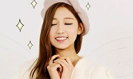 This is a gif of Yein Jung from the Kpop girl band Lovelyz.