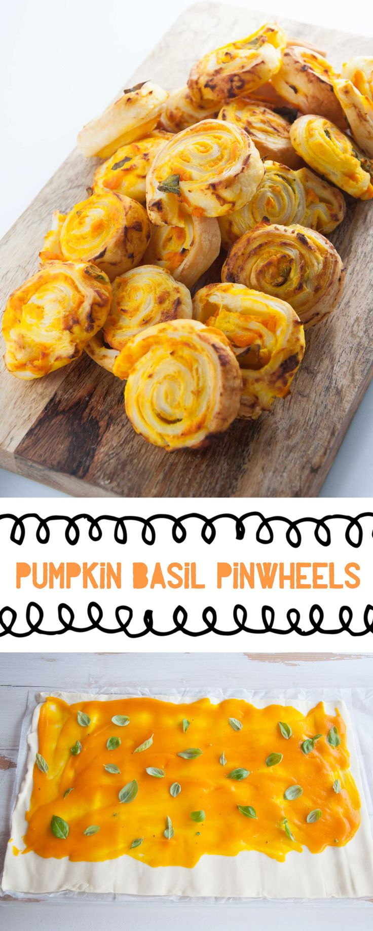 Vegan Pumpkin Basil Pinwheels #pumpkin #basil #pinwheels #vegan #snacks #partyfood | ElephantasticVegan.com