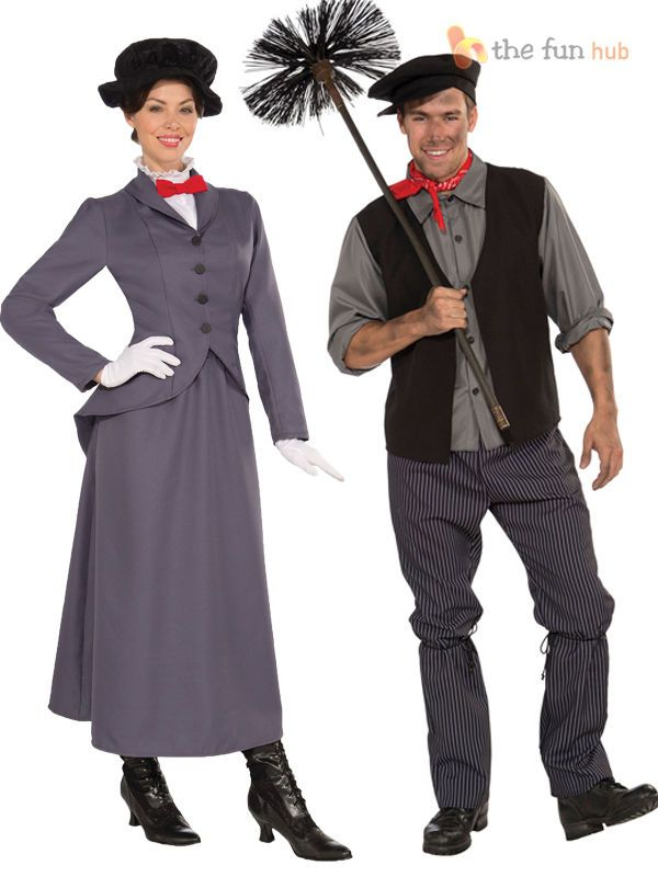 Victorian Mary Poppins Nanny Chimney Sweep Bert Fancy Dress Costume Mens Ladies