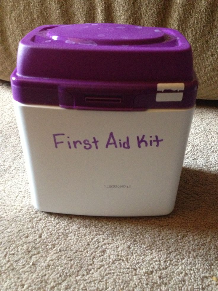 Use old baby formula containers to store first aid supply's for the car or where you might need a bandaid fast!! I have also found it handy to use them to store baking supply's such as flour, sugar, brown sugar ect. So you don't have the bags anymore!!!   BONUS: if they have a scooper, it equals out to about 1 1/2 tbs to scoop to use for measuring baking stuff :)