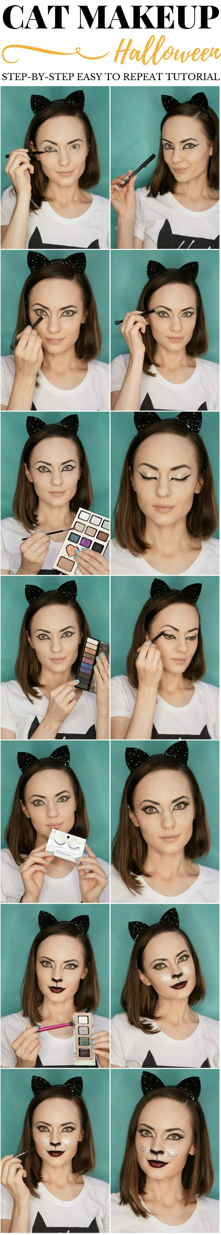 "This Halloween cat makeup tutorial created in collaboration with @FreshStep to raise awareness of cat adoption, eliminate the ""cat lady"" stigma that is associated with adopting a cat, and inspire people from all over the world to share their feline-inspired looks. #HotToAdopt #ad"