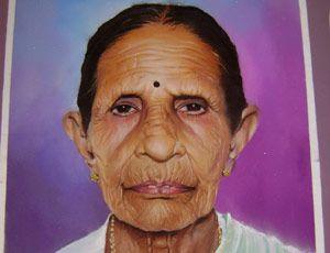 Portrait Rangoli by Minar Patil