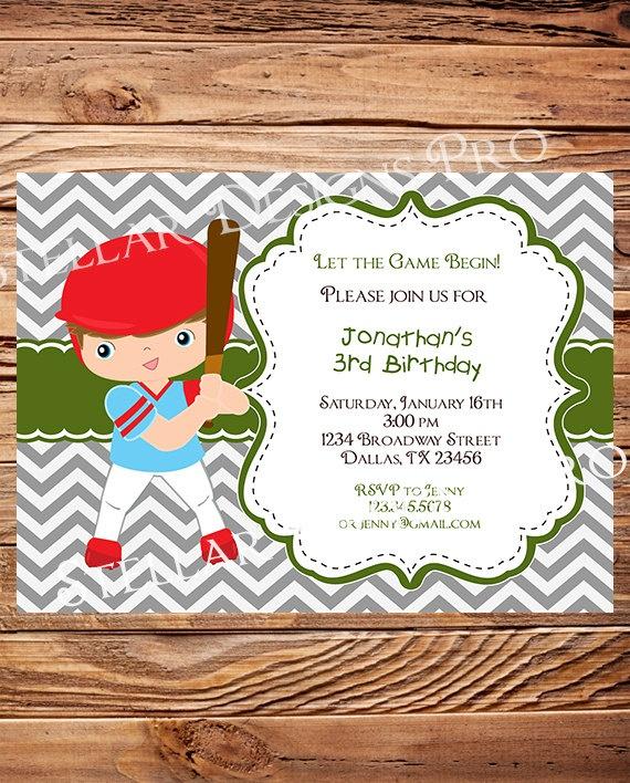 Baseball Birthday Party Invitation BOY by StellarDesignsPro, $21.00