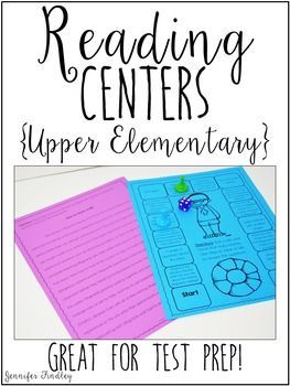 Reading centers for upper elementary students that include full passages and text dependent questions in a fun game board format. These are perfect for daily five reading centers and literacy centers in 4th and 5th grades.