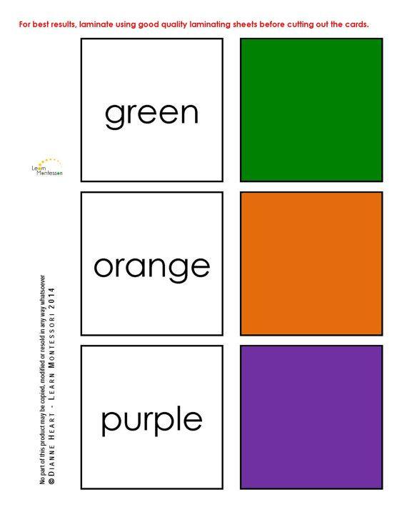 Montessori Curriculum  Language: Color Sight by LearnMontessori