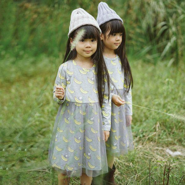 Собственная мало благодати и любви небольшой любовь Осенняя +2015 новый детская одежда девушки хлопка с длинными рукавами, платья принцессы платье марли