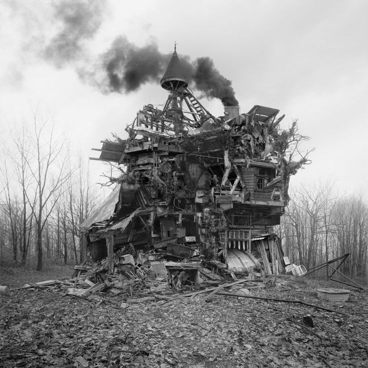 """In the 19th Century, follies were imitatiion ruins or fanciful structures, usually built of stone. I like this one made of """"junk"""" for the 21st Century."""