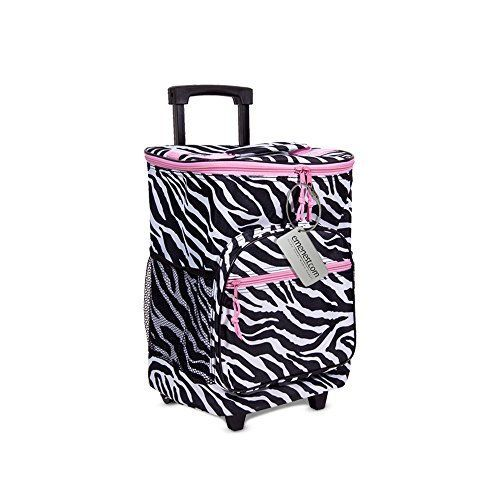 Insulated Rolling Cooler - Suitcase Style Large Picnic Ba