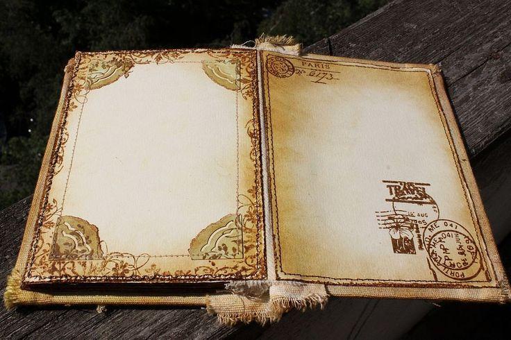 """Купить Винтажный альбом """"Ключи от Парижа"""" - винтаж, винтажный фотоальбом, ретро, под старину, старинный"""