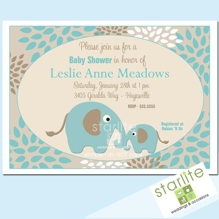 elephant baby shower invitations cartoon elephant themed baby shower