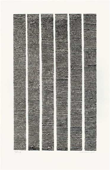 Jan J. Schoonhoven - T75-27,1975, Brush and India ink on paper; 50 X 32.5 cm