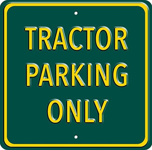 Tractor Parking Only, Heavy Duty Steel Sign for tractor owners. Great birthday, fathers day and christmas gift. Red Hot Lemon http://www.amazon.co.uk/dp/B00TFW5GJY/ref=cm_sw_r_pi_dp_lJK2ub16X6XB4