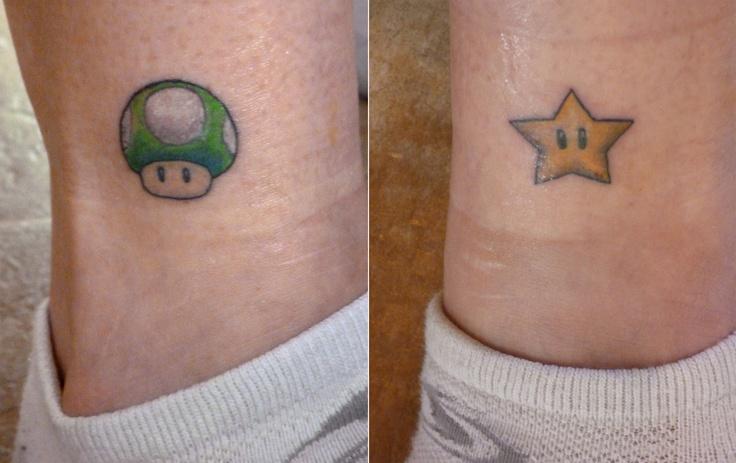 Jedi Mario Tattoo @ Geeky Tattoos |Mario Star Tattoo