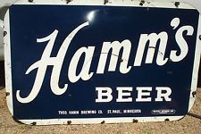 HAMMS BEER TAVERN BAR double sided late 1940s nice dealer advertising sign store