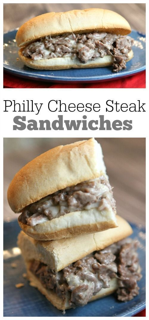 Philly Cheese Steak Sandwiches. more here