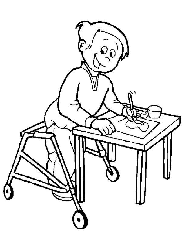 disability awareness coloring pages - 16 best images about liv on pinterest activities