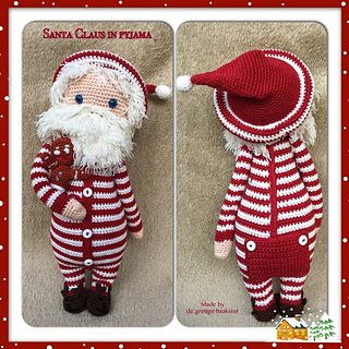Santa in his pajamas, amigurumi